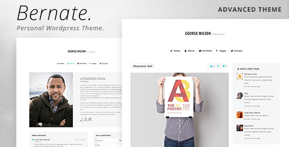 Bernate - Personal WordPress Theme