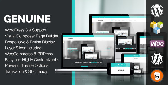 Genuine - Creative Responsive WordPress Theme