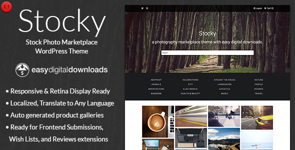 Stocky - A Stock Photography Marketplace Theme