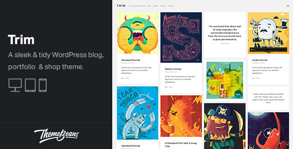 Trim - Masonry WordPress Blog, Shop & Portfolio